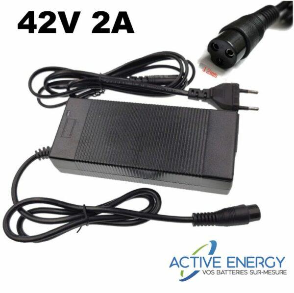 chargeur 36v 2a trottinette electrique active energy
