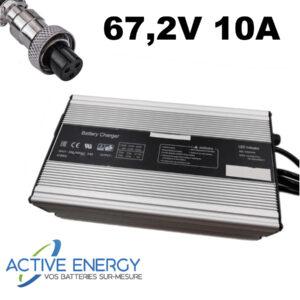 chargeur trottinette electrique 672V 10A active energy gx16