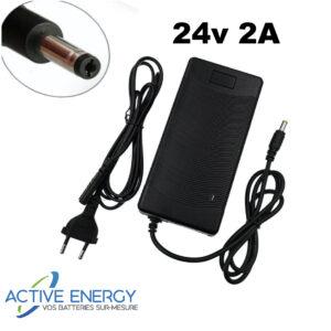 chargeur trottinette electrique active energy 24v2A