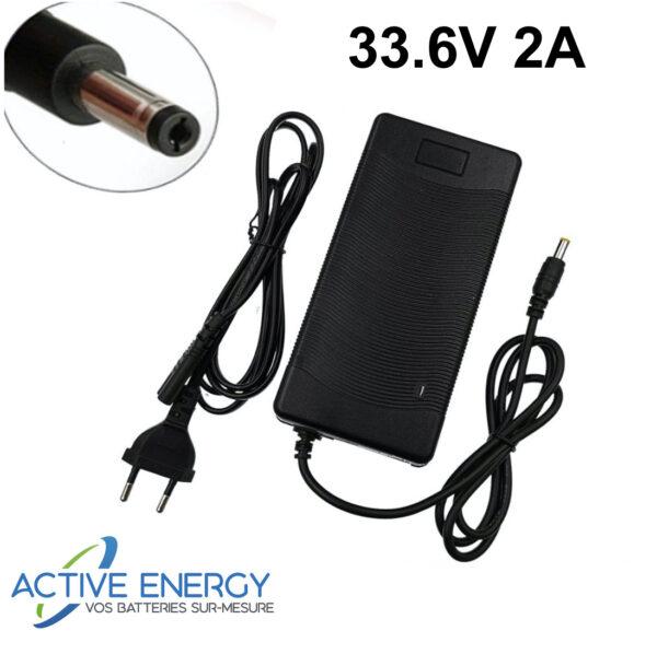 chargeur trottinette electrique active energy 33 6v 2A