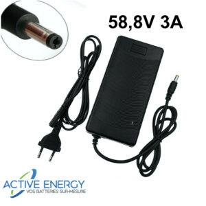chargeur trottinette electrique active energy 52v 3A DC 2