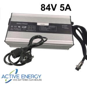 chargeur trottinette electrique active energy 84v 5A